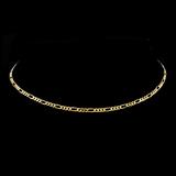 *Fine Jewelry 14 KT Gold, 6.5GM. 16'' Chain Necklace (GL Figaro 080)
