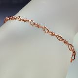 APP: 2.3k *Fine Jewelry 14KT Rose Gold, 0.22CT Round Brilliant Cut Diamond Bracelet (VGN A-305) (Vau