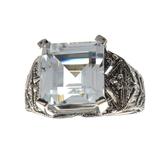 APP: 2.8k Fine Jewelry 5.06CT Beryl Aquamarine And Topaz Sterling Silver Ring