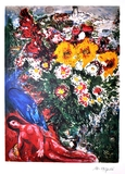 MARC CHAGALL (After) Les Soucis Lithograph, I15 of 500