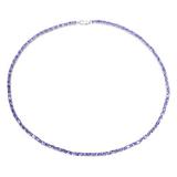 APP: 17.8k Fine Jewelry 20.64CT Oval Cut Tanzanite And Sterling Silver Bracelet