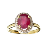 APP: 3.7k Fine Jewelry 14 KT White/Yellow Gold, 2.50CT Ruby And Diamond Ring