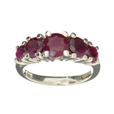 APP: 0.7k Fine Jewelry Designer Sebastian, 3.00CT Round Cut Ruby And Sterling Silver Ring
