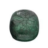 APP: 12.3k 2,459.00CT Oval Cut Carved Green Beryl Emerald Gemstone