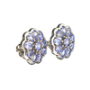 APP: 2.5k Fine Jewelry 0.60CT Round Cut Tanzanite And Sterling Silver Earrings