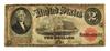 Nice 1917 $2 Red Seal Legal Tender Note