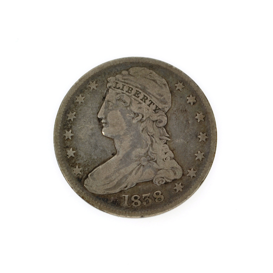 Rare 1838 Capped Bust Half Dollar Coin