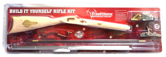 St Louis Hawken Rifle Kit .50 Cal 38'' White Octagonal Barrel (No Gun Sales To: NY, HI, AK.)