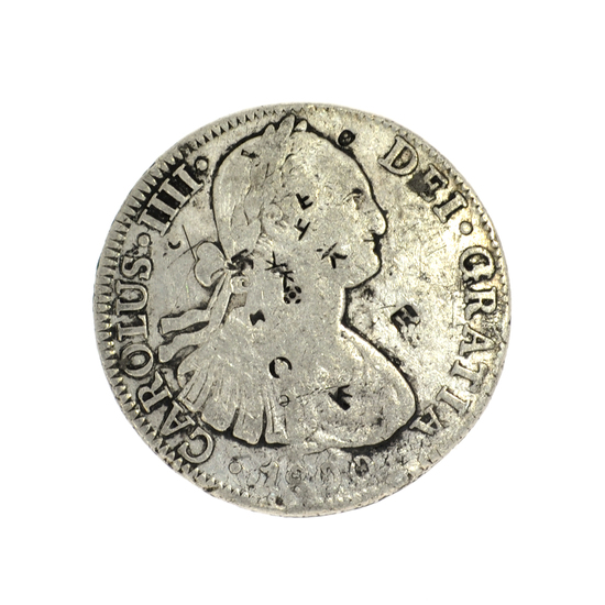 1800 Eigth Reales American First Silver Dollar Coin