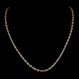 *Fine Jewelry 14 KT Gold, 3.1GR, 16'' Corrugated Oval Chain (GL 3.3-11)