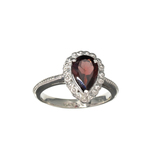 APP: 0.3k Fine Jewelry 2.27CT Pear Cut Almandite Garnet And Sterling Silver Ring