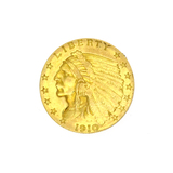 Extremely Rare 1910 $2.50 U.S. Indian Head Gold Coin