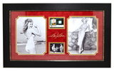 Very Rare Plate Signed Photo Of Marilyn Monroe With Authenic Original Swatch Of Clothing