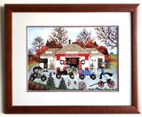 Wooster Scott - ''''The Good Old Days'''' Framed Giclee Original Signature & Numbered Editon