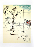 SALVADOR DALI (After) Chevalier Lithograph, 74 of 500
