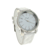 New Onyk, Stainless Steel Back, Water Resistant, White Rubber Strap, Ladies Watch