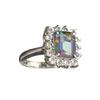 APP: 0.9k Fine Jewelry 4.34CT Multicolor Mystic Quartz And White Sapphire Sterling Silver Ring