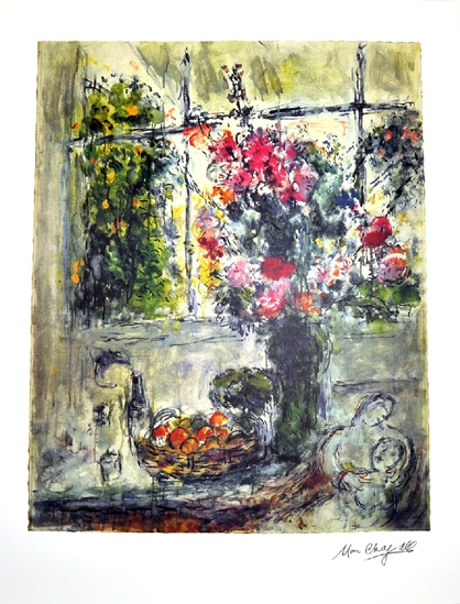 MARC CHAGALL (After) Still Life Lithograph, I32 of 500