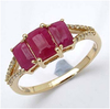 *Fine Jewelry 14K Gold, 2.29CT Ruby Octagon And White Round Diamond Ring (Q-R19141RWD-14KY)