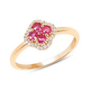 *Fine Jewelry 14 KT Gold, 2.31CT Ruby Round And White Diamond Ring (Q-R20606RWD-14KY)