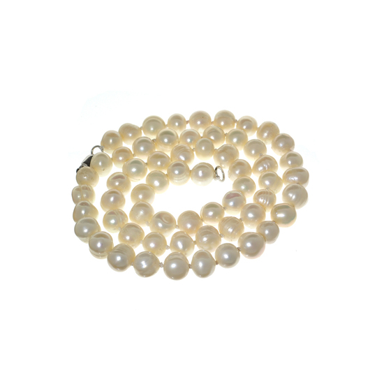 APP: 0.4k 18'' Pearl Strand with Sterling Silver Clasp Necklace