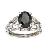 APP: 0.9k Fine Jewelry Designer Sebastian, 2.49CT Oval Cut Blue Sapphire And Sterling Silver Ring