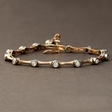 APP: 4.8k *Fine Jewelry 14KT Two Tone Gold, 1.00CT Round Brilliant Cut Diamond Bracelet (VGN A-301)
