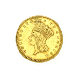 Extremely Rare 1862 $1 U.S. Princess Head Gold Coin