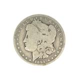 Rare 1894-O U.S. Morgan Silver Dollar