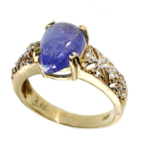 APP: 3.6k 14 kt Gold 3.25CT Tanzanite and Topaz Ring