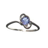 APP: 0.7k Fine Jewelry 0.31CT Round Cut Tanzanite And Platinum Over Sterling Silver Ring