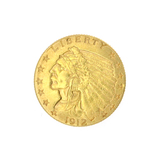 Extremely Rare 1912 $2.50 U.S. Indian Head Gold Coin