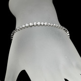 APP: 5.8k *Fine Jewelry 14 kt. White Gold, Custom Made, 2.00CT Round Brilliant Cut Diamond Bracelet