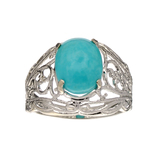 Fine Jewelry Designer Sebastian, Turquoise And Sterling Silver Ring