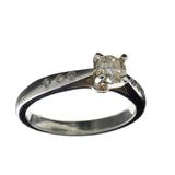APP: 1.6k 14 kt. White Gold, 0.38CT Round Cut Light Champagne Diamond Ring