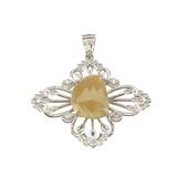 APP: 1.2k Fine Jewelry Designer Sebastian, 5.98CT Sapphire And White Topaz Sterling Silver Pendant