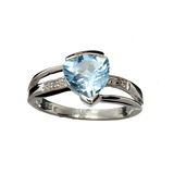 APP: 0.7k Fine Jewelry 1.53CT Blue And Colorless Topaz Platinum Over Sterling Silver Ring