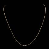 *Fine Jewelry 14 KT Gold, 3.8GR, 18'' Double Bead Chain (GL 3.8-9)