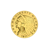 Extremely Rare 1911 $2.50 U.S. Indian Head Gold Coin