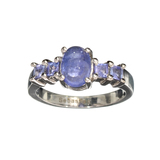 APP: 1k Fine Jewelry 1.40CT Oval Cut Tanzanite And Sterling Silver Ring