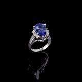 APP: 4.3k Fine Jewelry 14 KT White Gold, 4.72CT Tanzanite And Diamond Ring