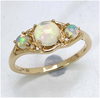*Fine Jewelry 14K Gold, 2.38CT Ethiopian Opal And White Round Diamond Ring (Q-R19196ETHOPWD-14KY)