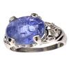 APP: 2k Fine Jewelry Designer Sebastian 9.50CT Oval Cut Cabochon Tanzanite and Sterling Silver Ring