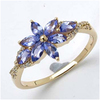 *Fine Jewelry 14K Gold, 2.13CT Tanzanite Marquise And White Round Diamond Ring (Q-R19261TANWD-14KY)