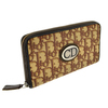 Christian Dior Choth Monogram Brown Zipper Wallet (Pre Owned)