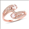 *Fine Jewelry 14K Rose Gold, 2.84CT Morganite And White Round Diamond Ring (Q-R20315MGWD-14KR)
