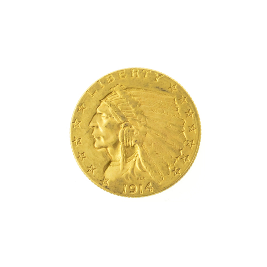 1914-D $2.50 U.S. Indian Head Gold Coin