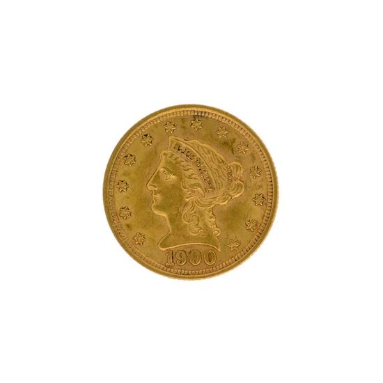 *1900 $2.5 Liberty Head Gold Coin (DF)