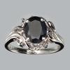 Fine Jewelry Designer Sebastian 2.35CT Blue Sapphire And Topaz  Platinum Over Sterling Silver Ring