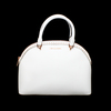 Gorgeous Brand New Never Used Optic White Michael Kors Large Dome Satchel Tag Price $378.00